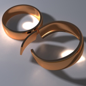 Broken rings of divorce